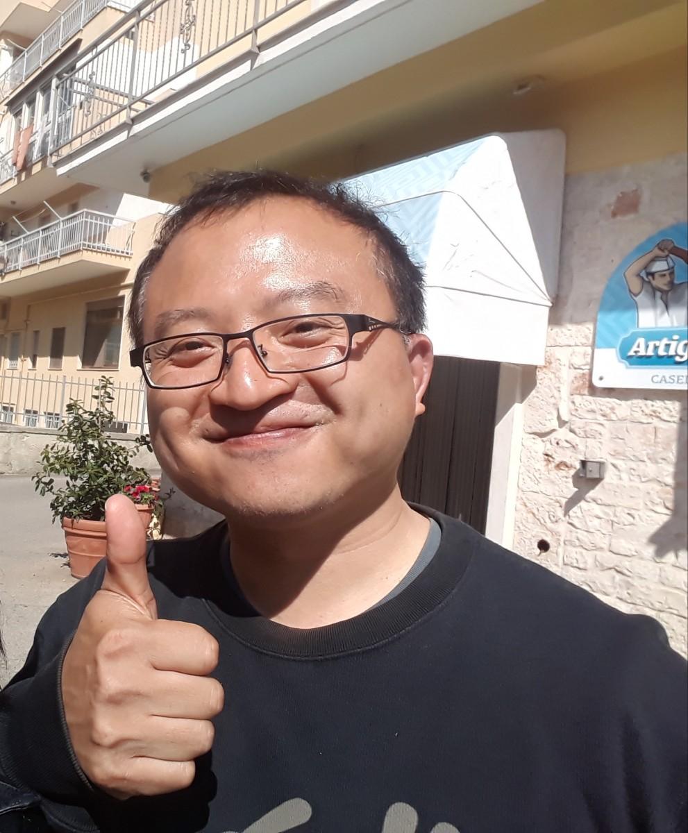 A spasso con un capo-cuoco di Taiwan