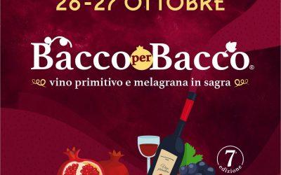 Ti piace il vino novello? Allora non puoi perderti Bacco per Bacco a Turi in Puglia